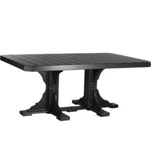 4x6 ft rectangular table black