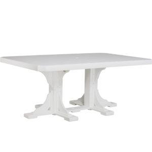 4x6 ft rectangular table white
