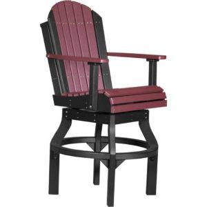 adirondack swivel chair cherrywood black