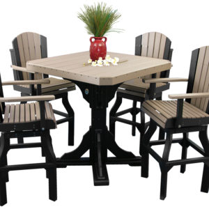 adirondack bar table set weatherwood black