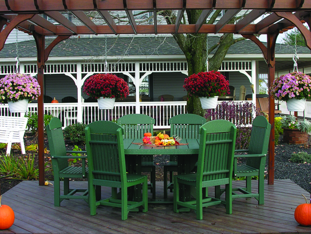 4x6 oval table set 2 green