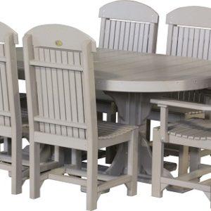 4x6 oval table set 2 weatherwood