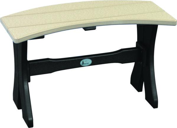 table bench weatherwood black