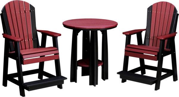 36 inch balcony table adirondack balcony benches cherrywood black