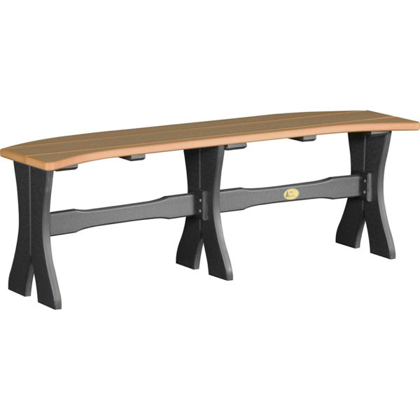 52 inch table bench cedar black