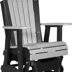 2 ft adirondack glider chair dove gray black