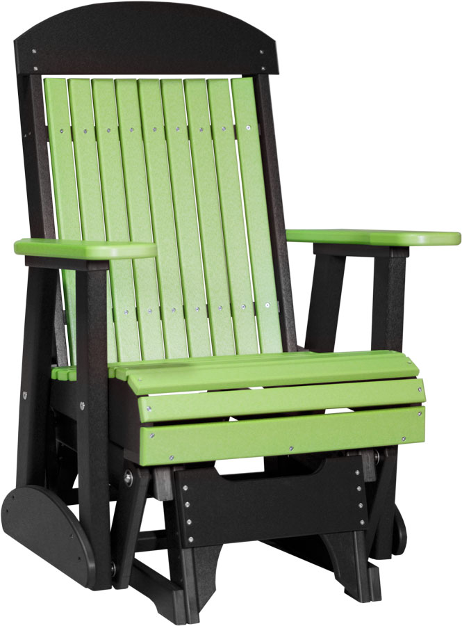 2 ft classic glider chair lime green black