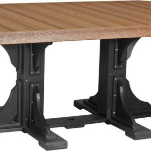4x6 ft rectangular table antique mahogany black
