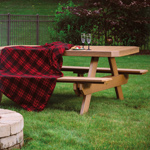 regular picnic table