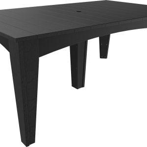 island dining table rectangular black